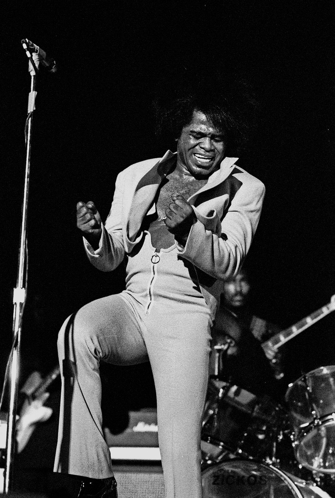 James Brown, working.