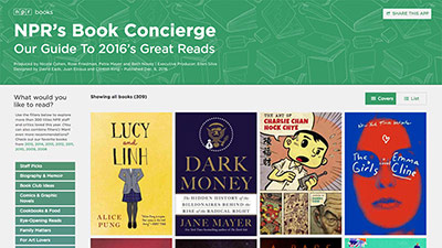NPR's Book Concierge 2016