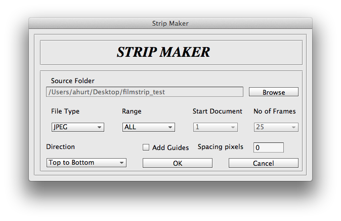 the StripMaker interface